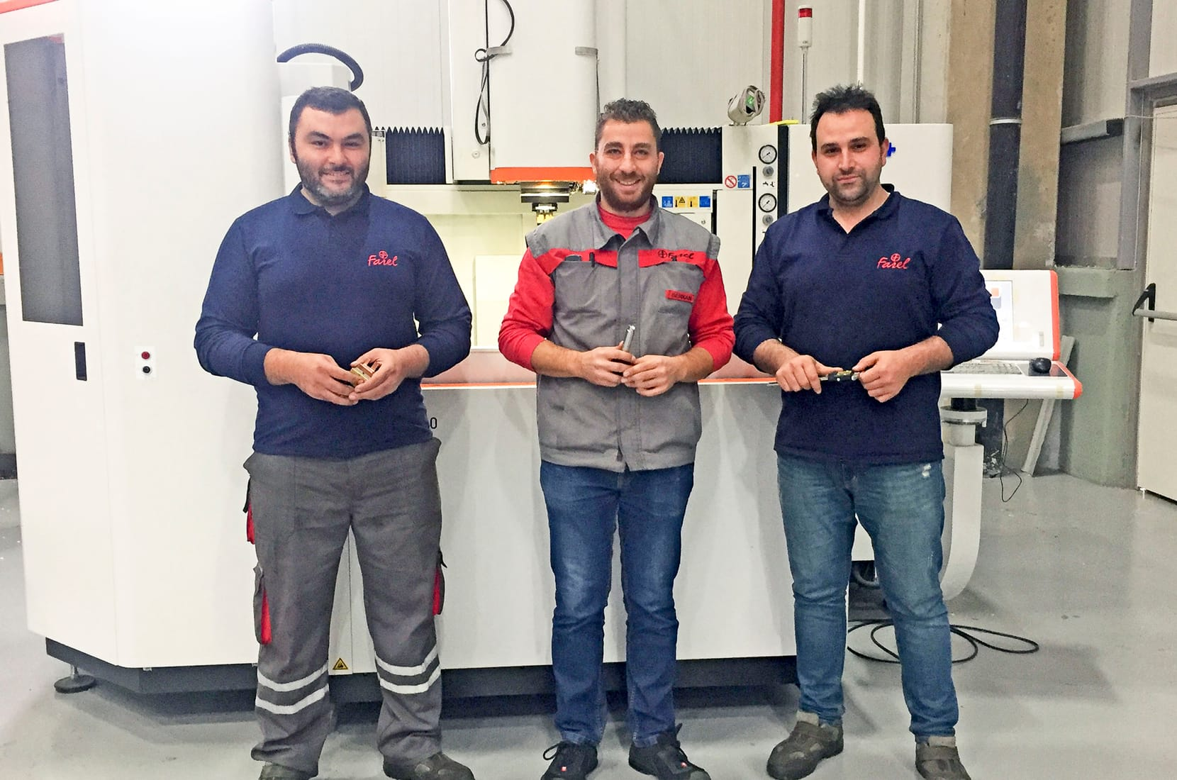 Toolmaking team colleagues at Farel