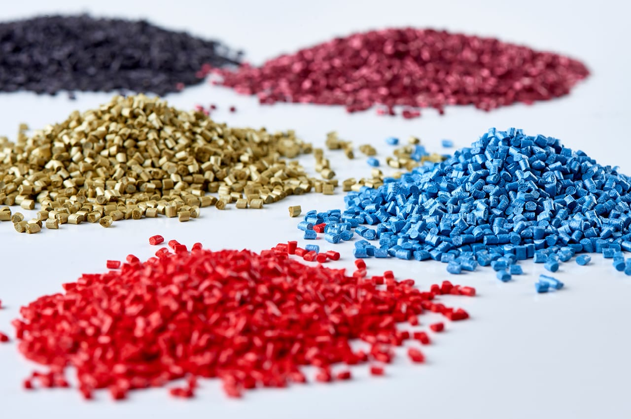 Injection molding material mix