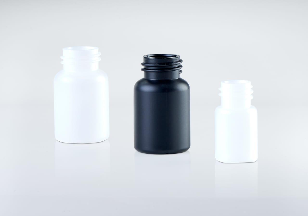 Kunststoffflaschen für Medikamente und sensible Wirkstoffe
